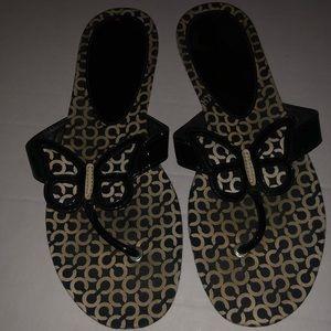 Shoes - Coach butterfly flip flops sandals size 9 1/2